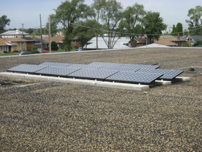 These solar panels are almost invisible to the students at this school.