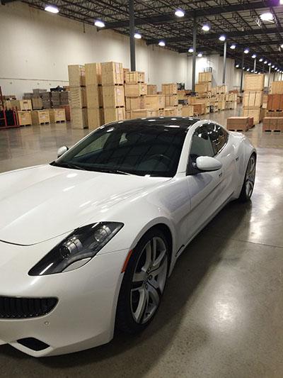 Fisker Karma luxury electric plug-in hybrid car